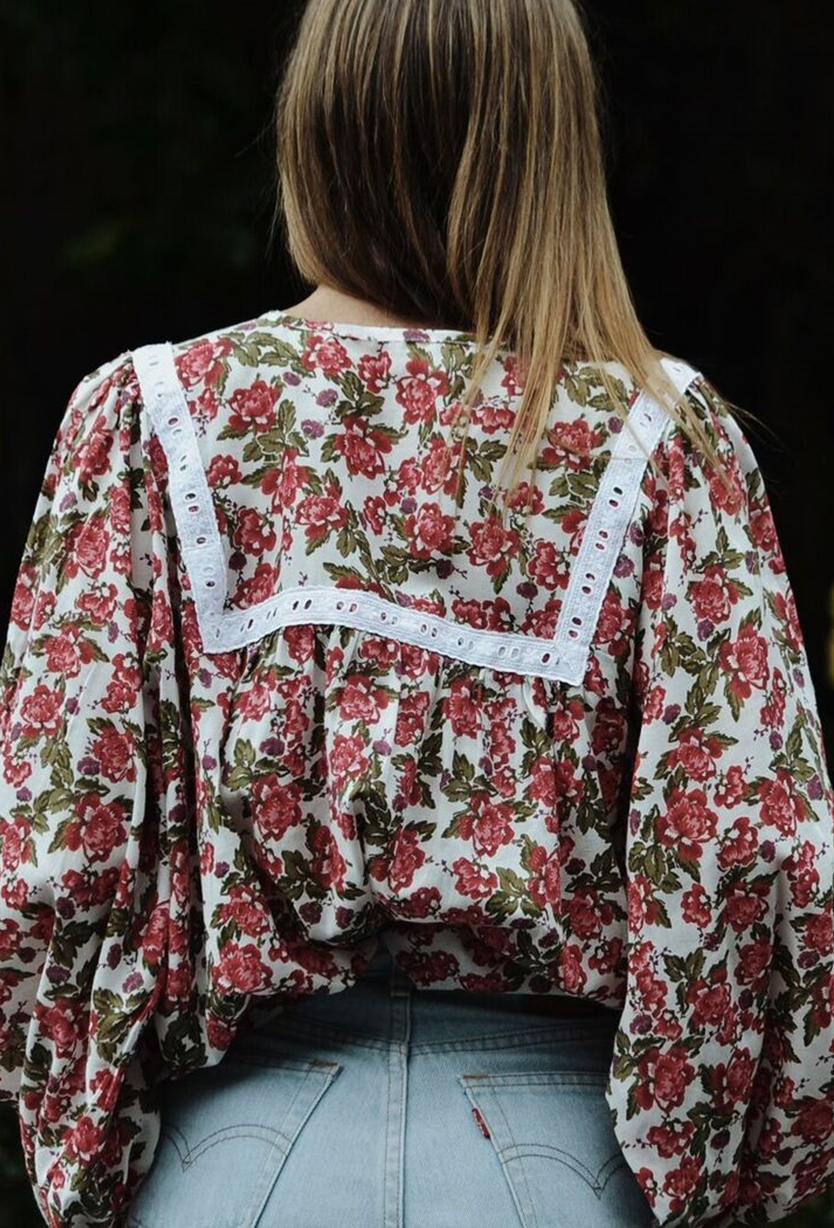 FLORET BLOUSE RED FLORAL