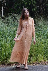 FREYA COTTON GAUZE DRESS TURMERIC