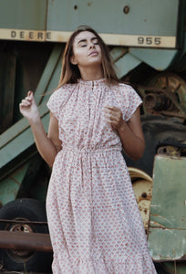 ISABEL ROSE HAND BLOCK STAMP DRESS