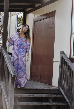 FARROW MAXI DRESS BLUE FLORAL