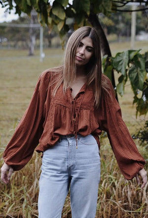 MABEL BLOUSE CLAY