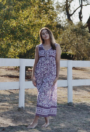 MALIN PURPLE FLORAL DRESS