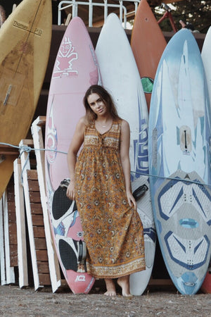MALIN EARTHY FLORAL DRESS