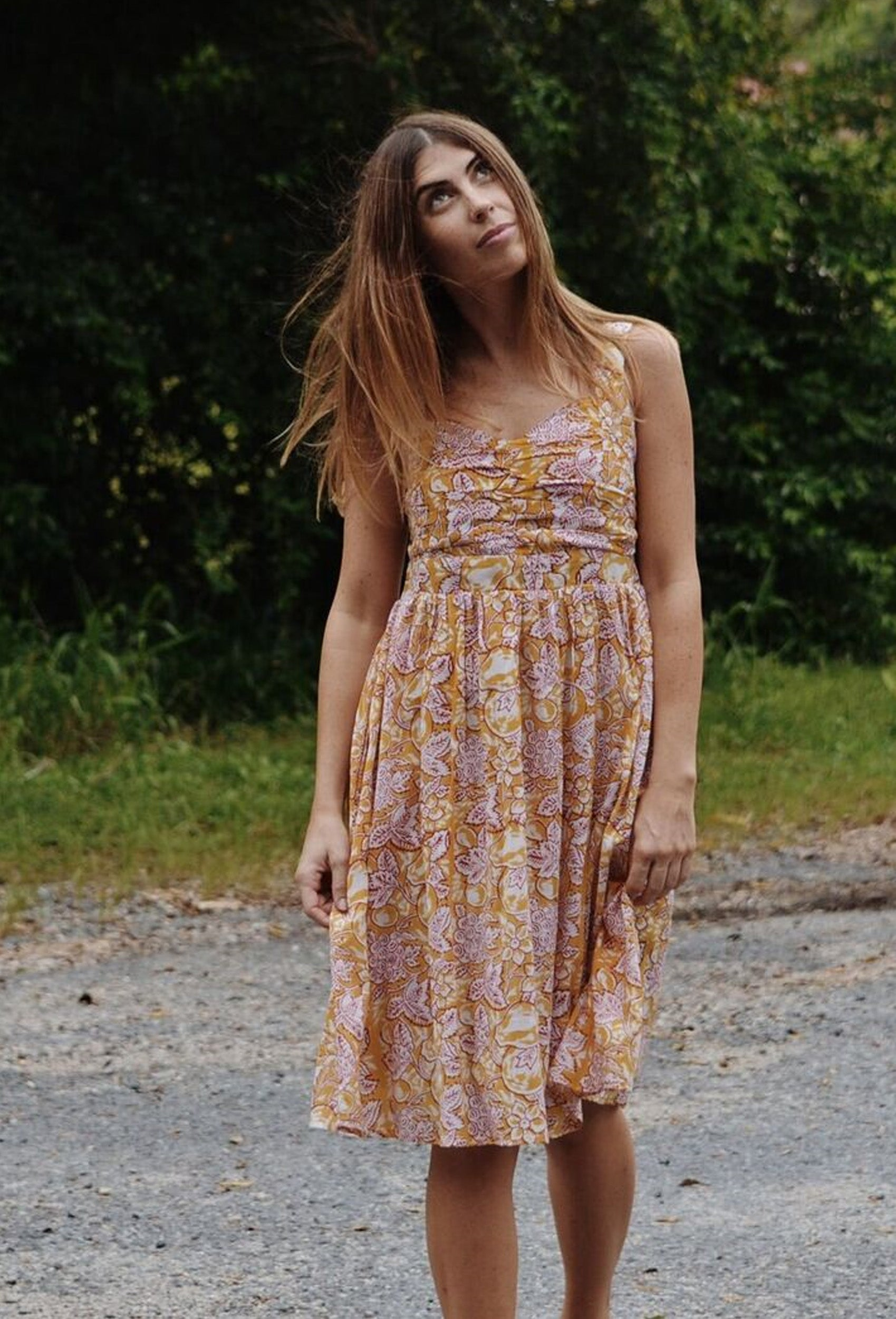 FLORENCE DAY DRESS TURMERIC