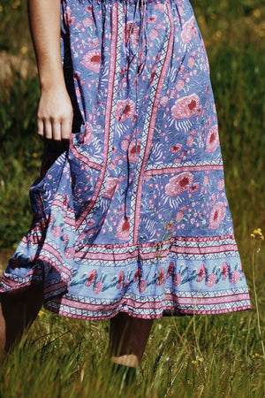 PRÈVOT BLUE FLORAL DRESS