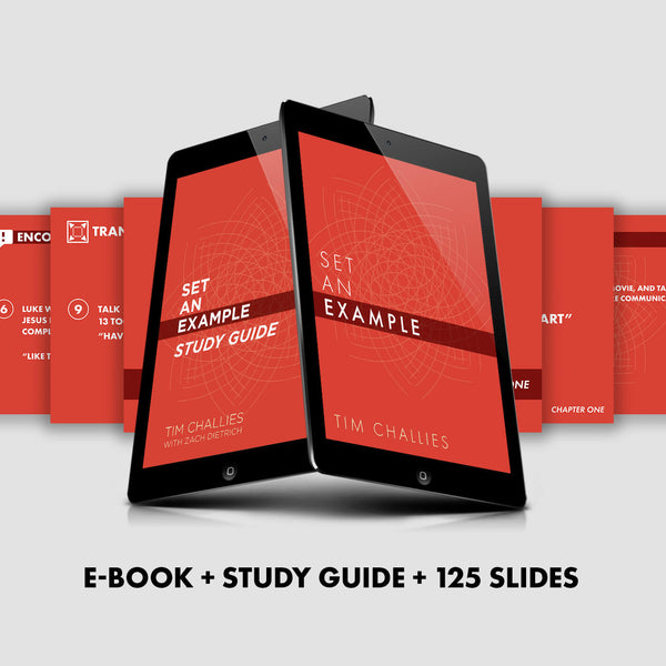 Set An Example Booklet, Study Guide, & Slides