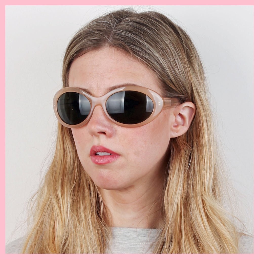 Vintage 90s Oval Wrap Sunglasses