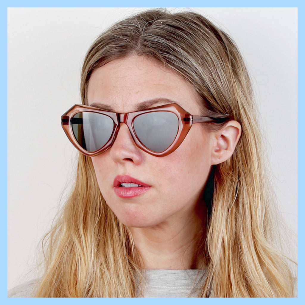 Vintage 60s Angular Cat Eye Sunglasses