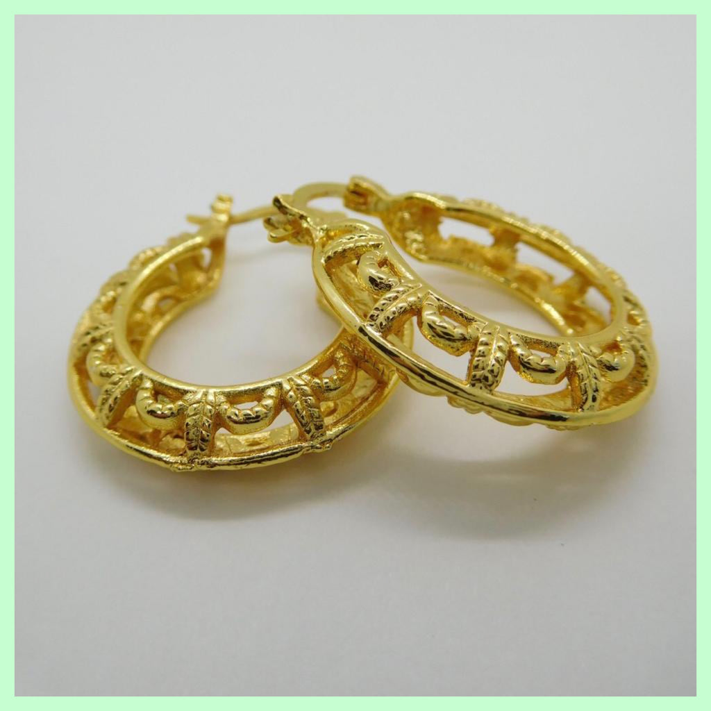 Filigree Round Hoop Earrings
