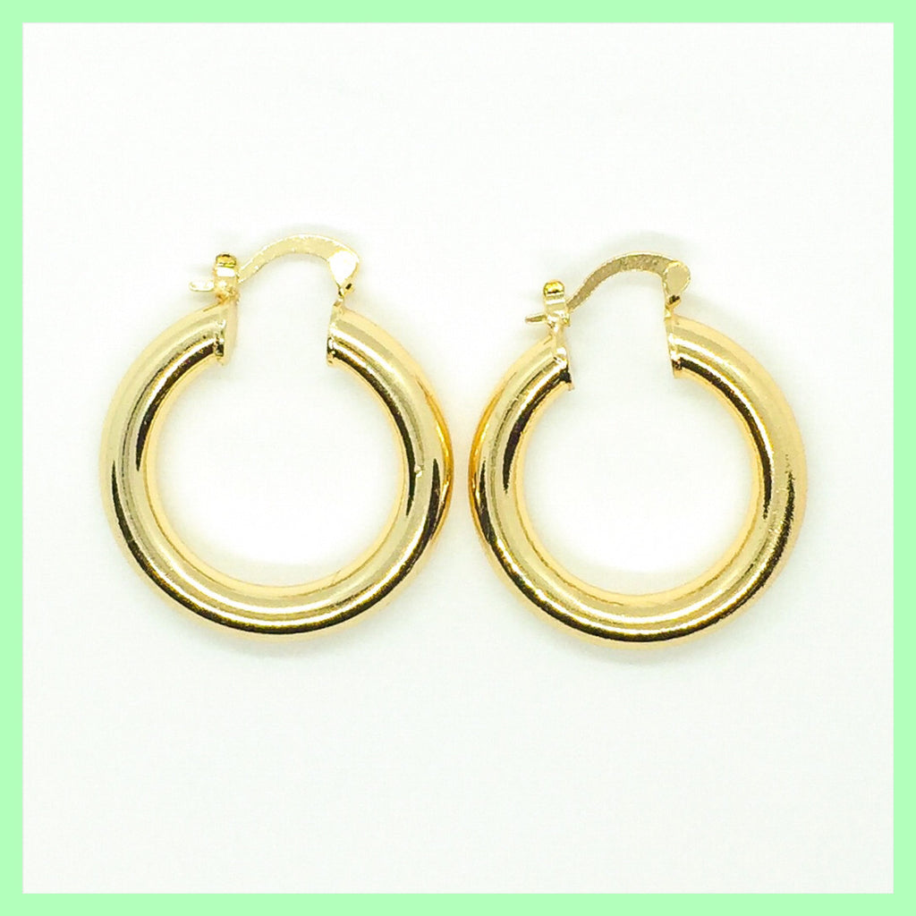 Chunky Plain Hoop Earrings