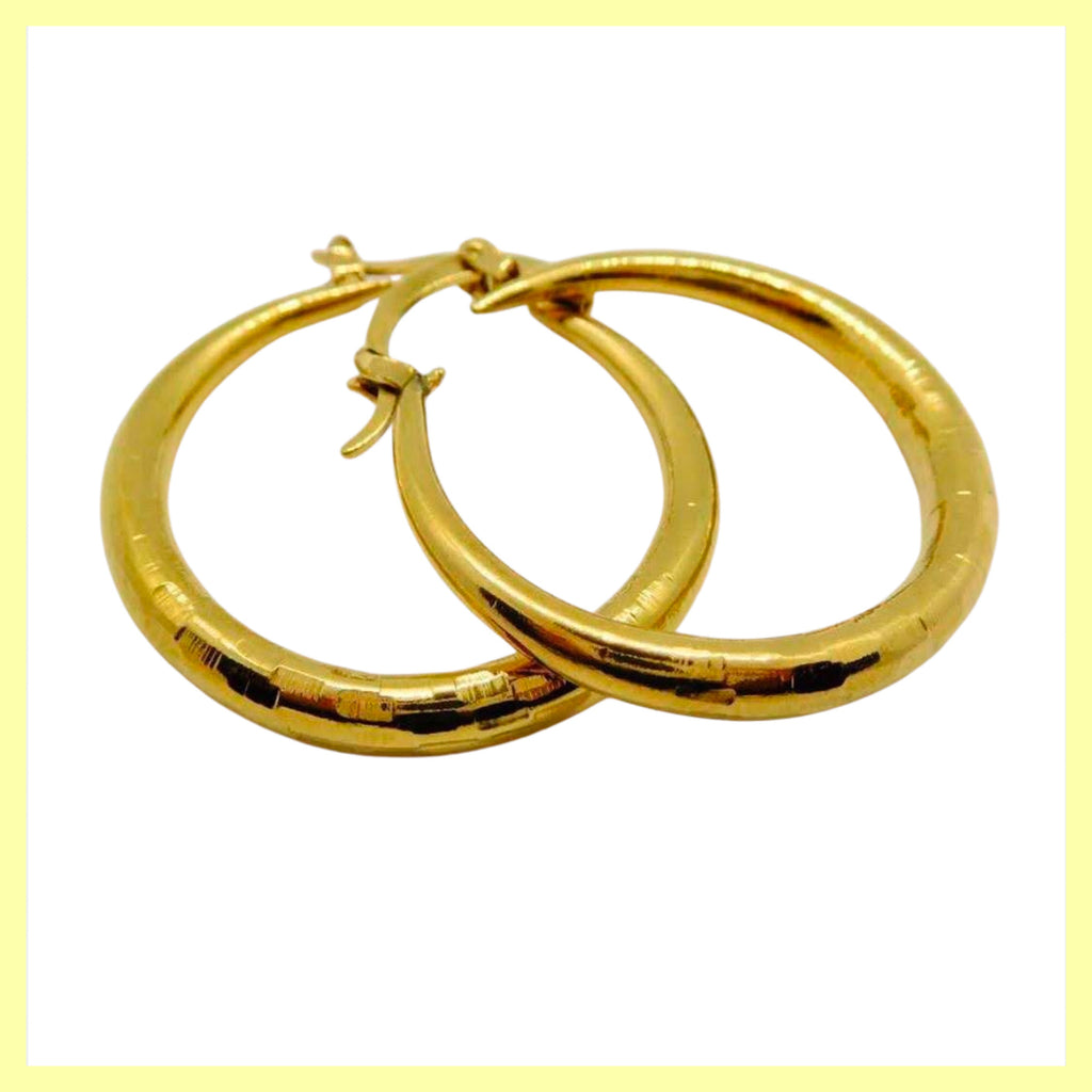 Chunky Etched Hoop Earrings