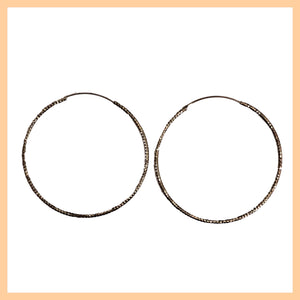 Large Thin Faceted Hoop Earrings