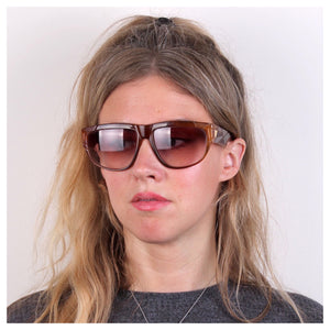 Vintage YSL 1980s Flat Top Sunglasses