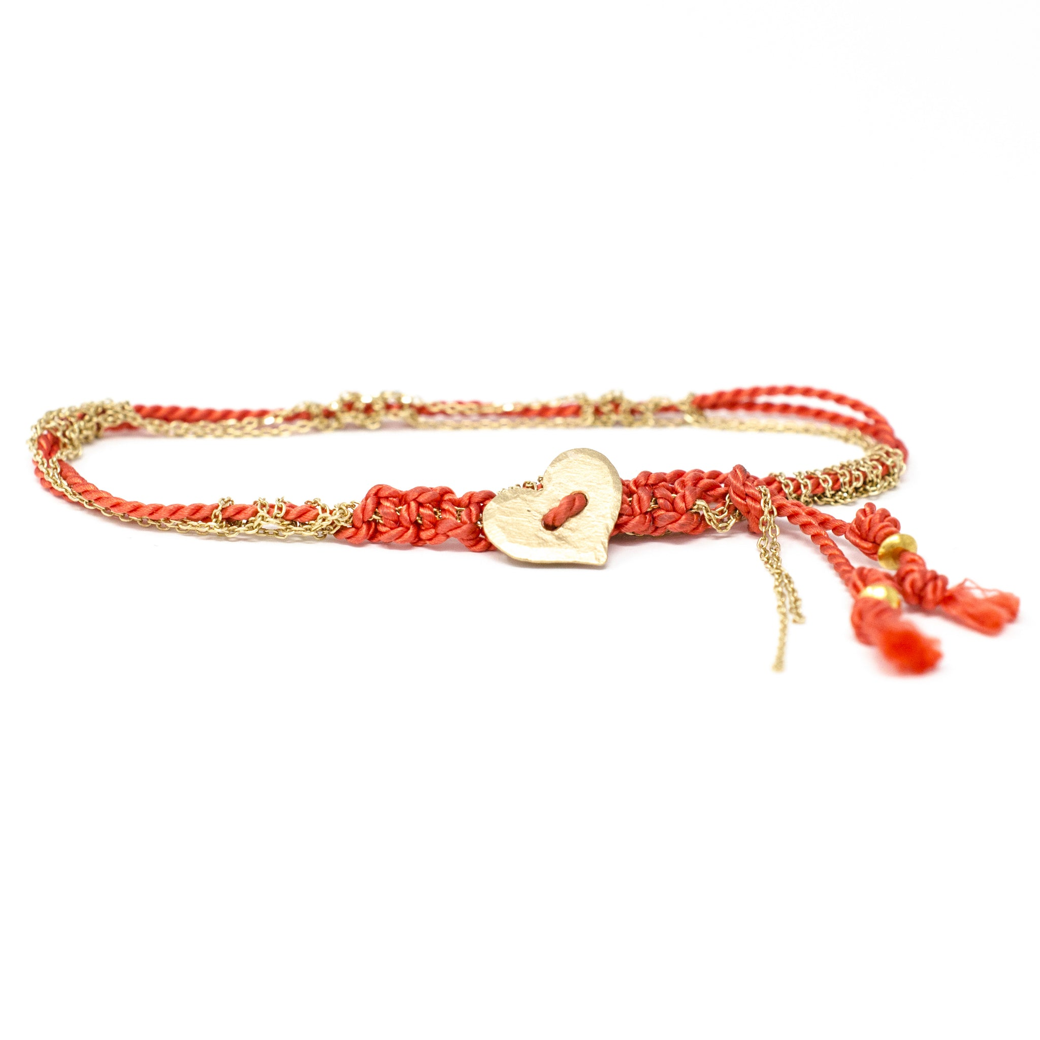 Adult Friendship Bracelet Orange