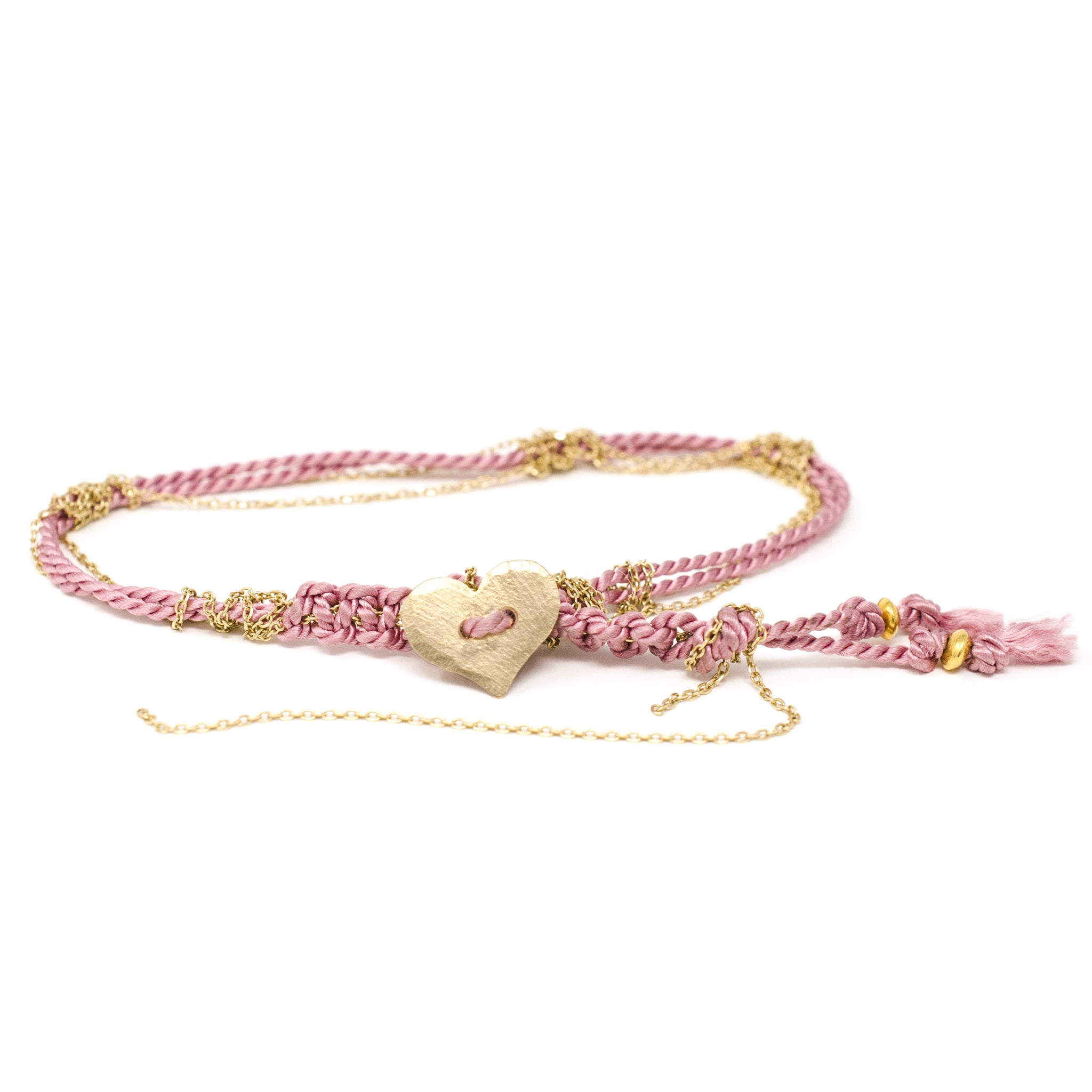 Adult Friendship Bracelet Pink