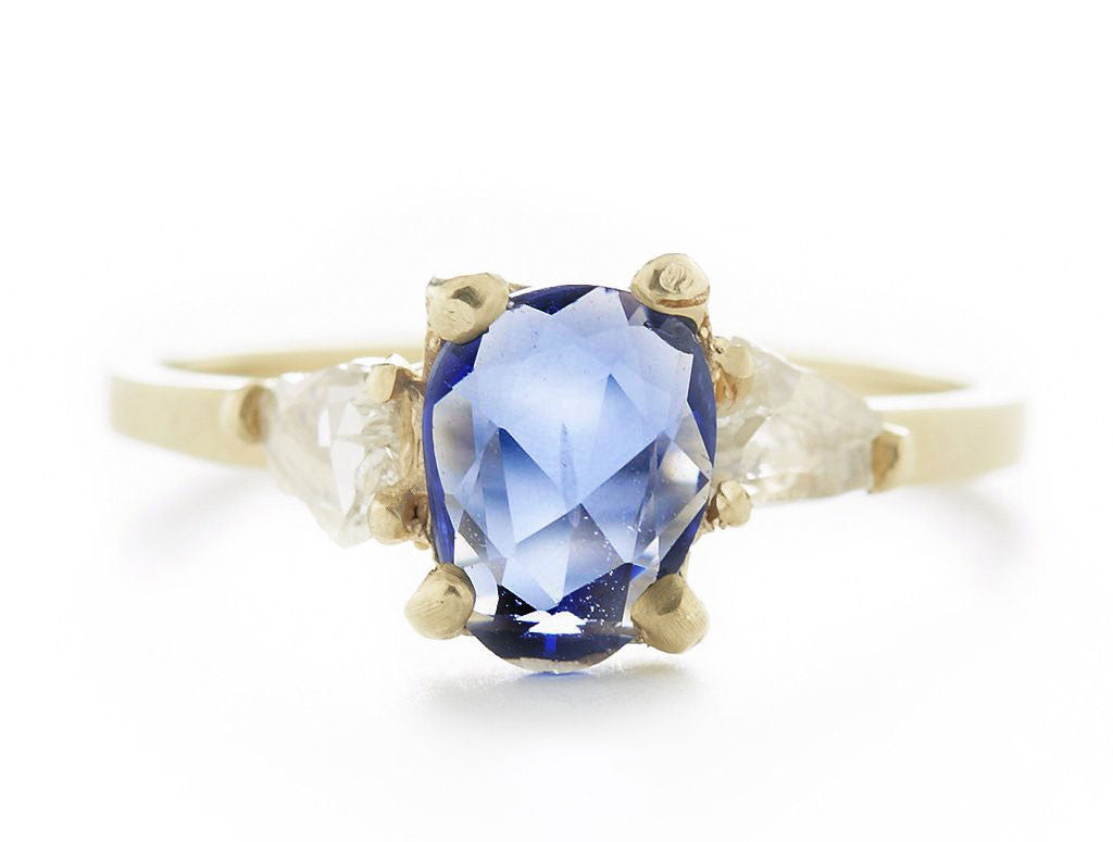 classico diamond ring cu rings cushion cut danhov blue sapphire