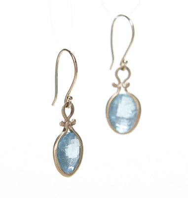 Asymmetrical Apatite Earrings