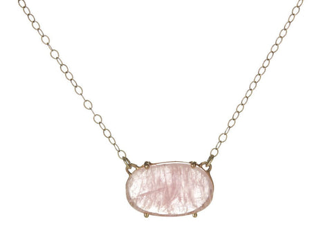 Asymmetrical Morganite Necklace