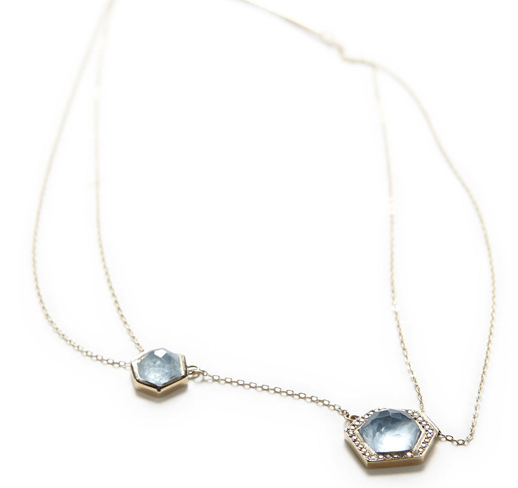 Mineral Asymmetrical Aquamarine Necklace