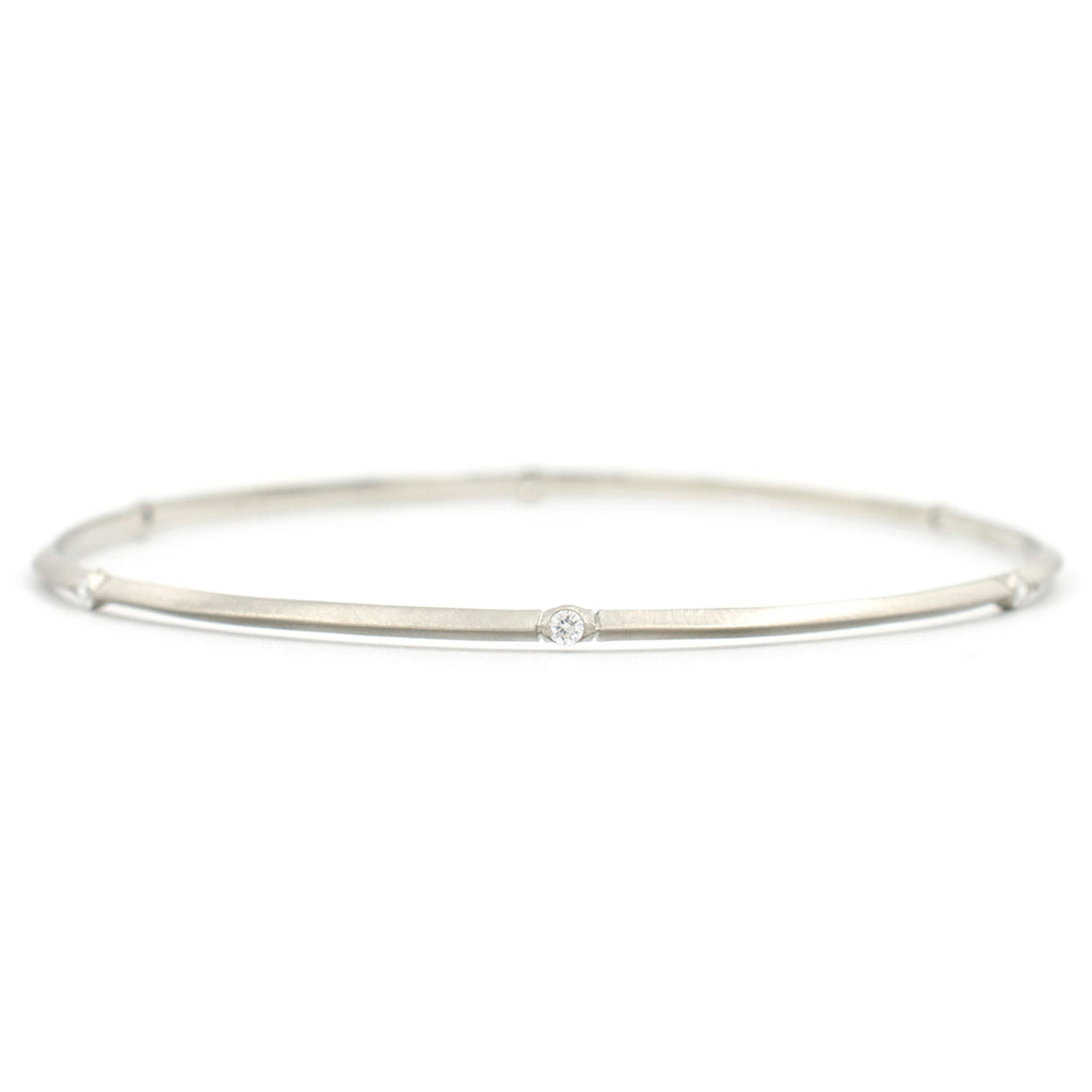 Bevel Diamond Bangle Bracelet