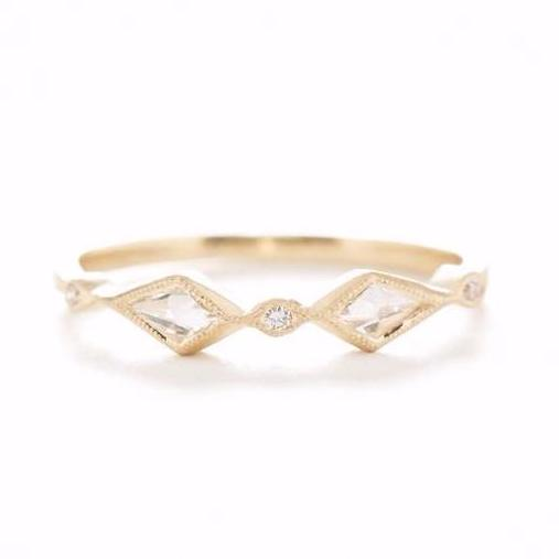 Blockette Kite Diamond Ring