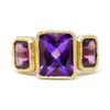 Blockette Amethyst Grape Garnet Ring