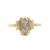 Blockette Three Stone Opaque Diamond Ring