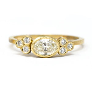 Constellation Oval Cluster Ring