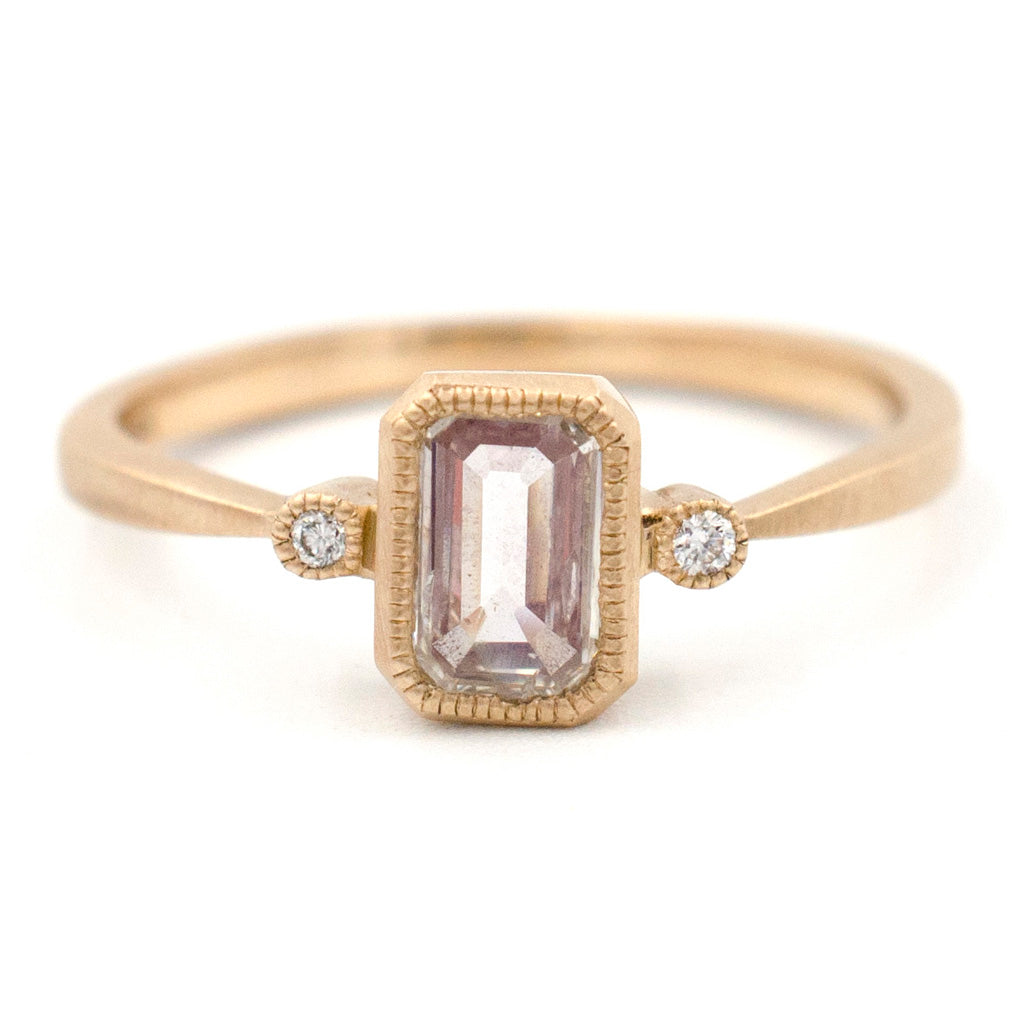 Blockette Emerald Cut Diamond Ring