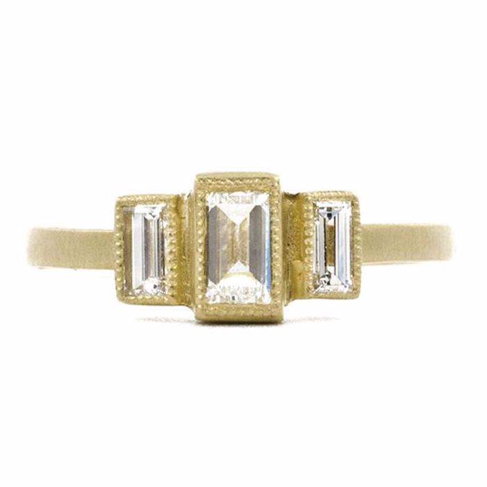Alter to the Soul Emerald Cut Diamond Ring