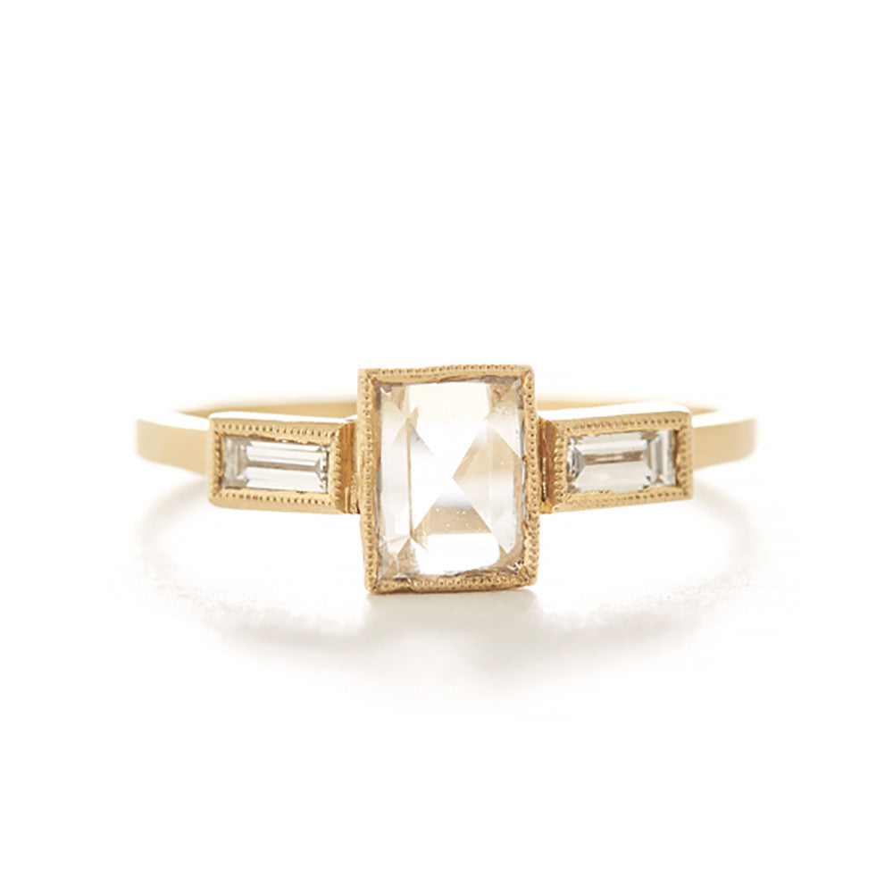 Blockette Large Baguette Three Stone Ring