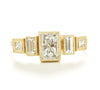 Blockette Baguette Five Stone Ring