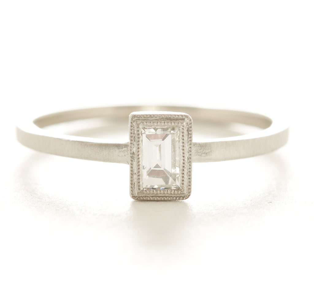 Blockette Diamond Baguette Ring