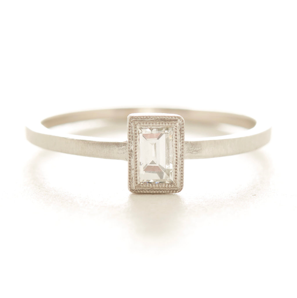 Blockette Baguette Diamond Ring