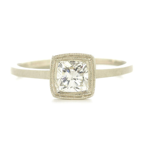 Blockette Square Cushion Diamond Ring
