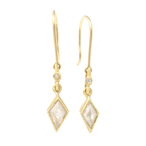 Blockette Kite Opaque Diamond Earrings