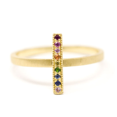 Blockette Rainbow Line Ring