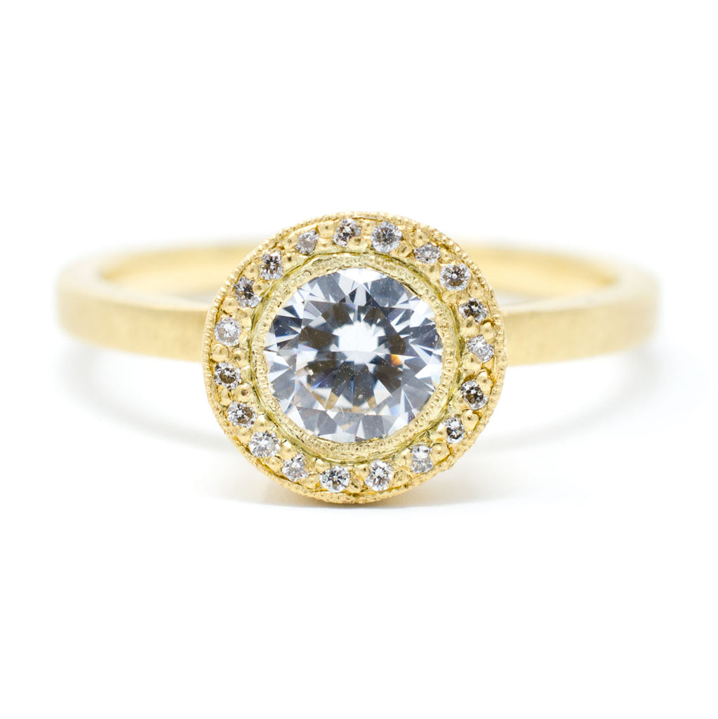 Mountings Blockette Round Diamond Halo Ring