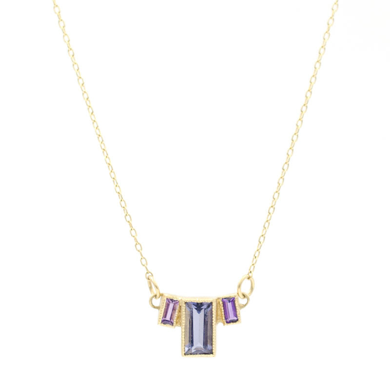 blue way iolite three necklace