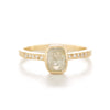 Blockette Oval Opaque Diamond Pave Ring