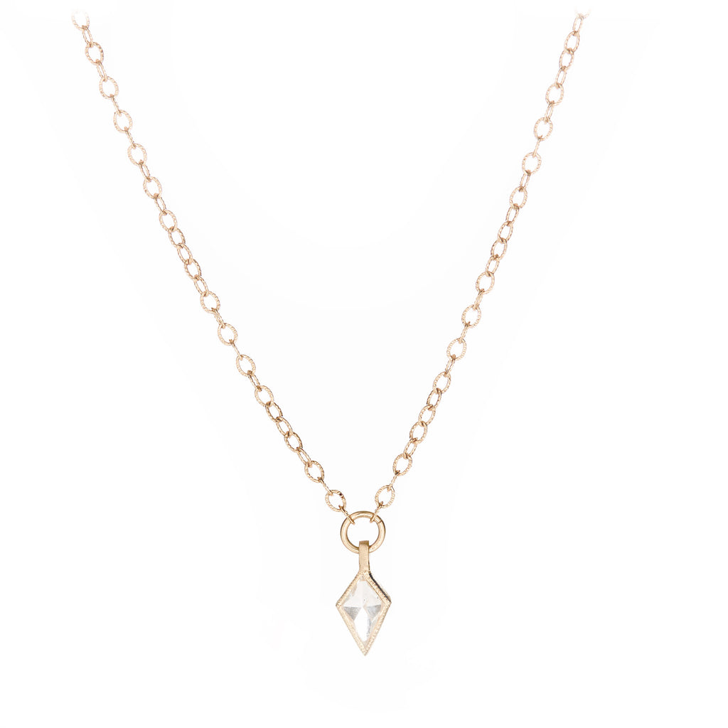 Blockette Kite Diamond Necklace