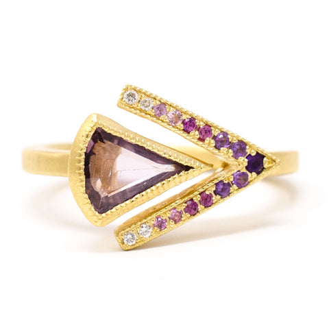 Blockette Chevron Spinel Ring