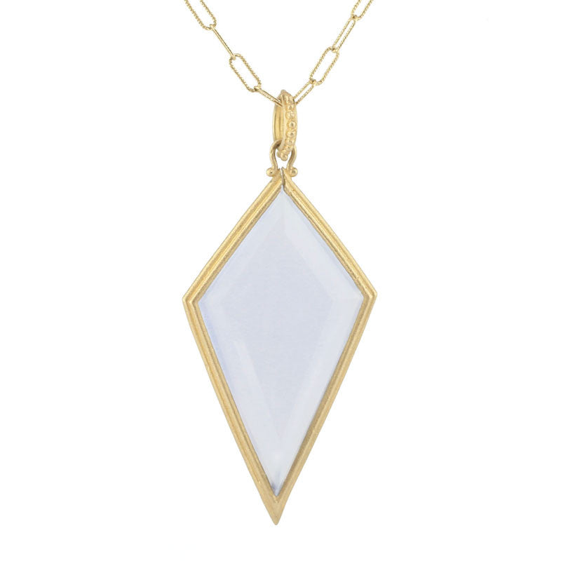 Clover Kite Chalcedony Long Necklace