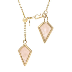 The Perfect Balance Morganite Lariat Necklace
