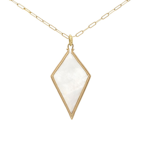 Clover Kite Moonstone Long Necklace