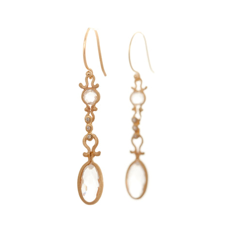 Dewdrop Quartz Drop Earrings
