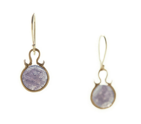 Dewdrop Labradorite Round Earrings