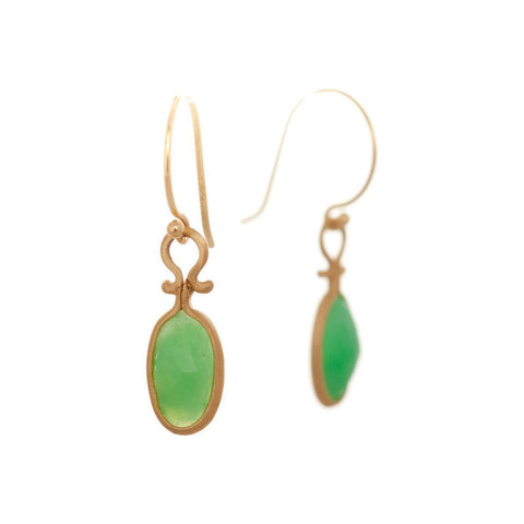 Dewdrop Chrysoprase Earrings