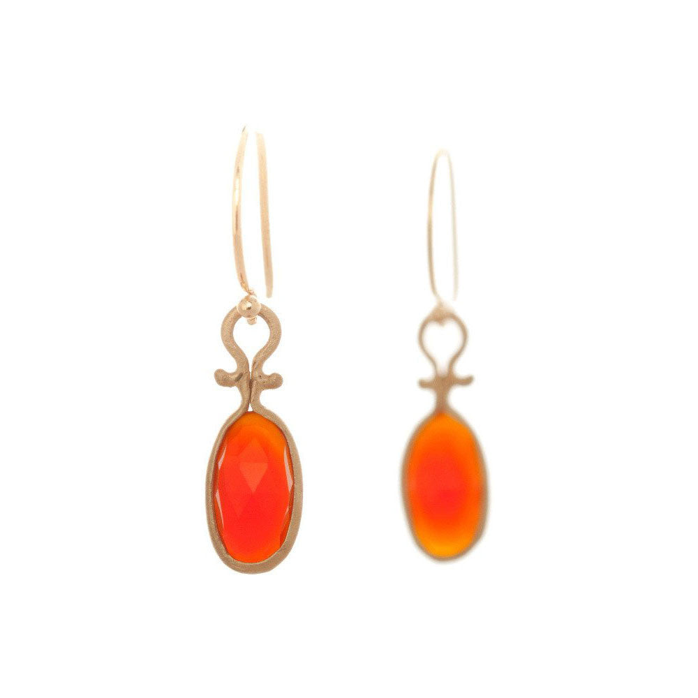 Dewdrop Carnelian Earrings