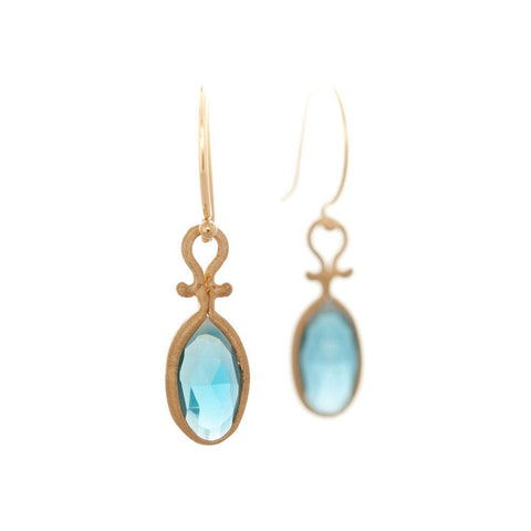 Dewdrop London Blue Topaz Earrings